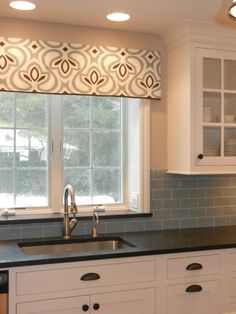 Farmhouse Kitchen Window Valance Tutorial Home Decor Window