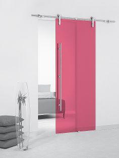 Puerta corredera de cristal Casali System Cherry Transparente de Maydisa. www.maydisa.com