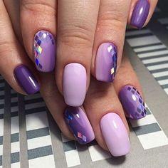 100 Beautiful Purple Nail Art Designs and Lucky Colors of the Year 2018 Purple Nail Art, Purple Nail Designs, Best Nail Art Designs, Pretty Nail Art, Beautiful Nail Art, Purple Ombre, Purple Glitter, Stunningly Beautiful, Trendy Nails