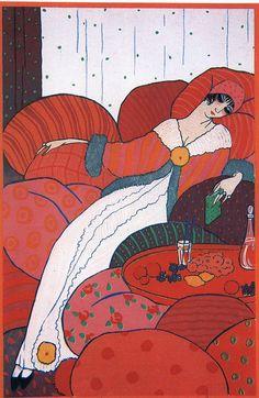 Les Coussins by Lepape, 1912