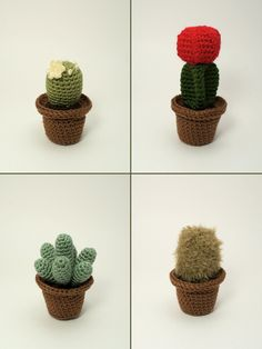 crocheted cactus collection 1 by planetjune