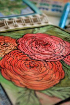 Camilia Sketch Watercolor| Alisa Burke
