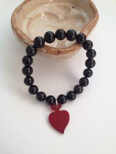 Bracciale il cuore eoliano in ossidiana e plexiglass Jewelry, Home, Jewlery, Jewerly, Schmuck, Jewels, Jewelery, Fine Jewelry, Jewel