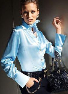satin sexy shirts for women | Satin Blouses: Satin Blouses For Women