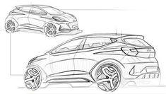 Microcar, Automotive Design, Auto Design, Car Design Sketch, Hand Sketch, Cool Sketches, Performance Parts, Transportation Design, Future Car