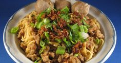 Indonesian bakmi recipe, Indonesian dry noodle with meatball soup recipe