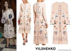 Vilshenko Jerry floral print silk dress