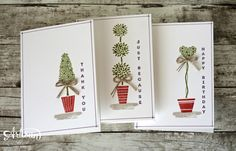 Topiary Trio — Annual Catalog International Blog Hop | Amy's Paper Crafts
