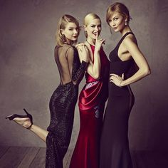 Vanity Fair Oscar Party _ Taylor Swift, Jaime King, and Karlie Kloss, coming out of the wardrobe.