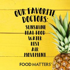 Just some of our favorite 'doctors'... What would you add to the list? ☀️  #foodmatters www.foodmatters.com