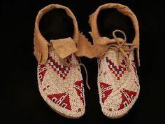 beaded moccasins beadier unknown