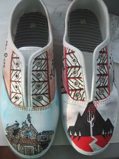 Pierce the Veil and Sleeping with Sirens Shoes. I swear. These are the greatest creation of man kind. These are my two *HANDS DOWN* all time favorite band. God. I need these!!!!