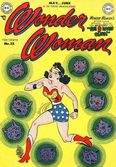 Wonder Woman Issue #35 The 9 Lives Club - Frances Burney appears in 1 issue in this volume. 1942 DC Comics