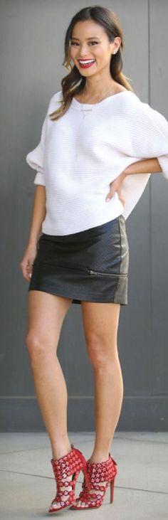 // Jamie Chung // Jamie Chung, Celebs, Celebrities Fashion, Street Chic, Street Style Women, Celebrity Style, Mini Skirts, Womens Fashion, Fitness