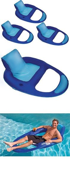 Floats and Rafts 181055 Swimways Spring Float Recliner Xl Floating Swimming Pool Lounge Chair (  sc 1 st  Pinterest & Floats and Rafts 181055: Intex Inflatable Canopy Island Float ...