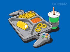 Geeky and funny illustrations by Glennz