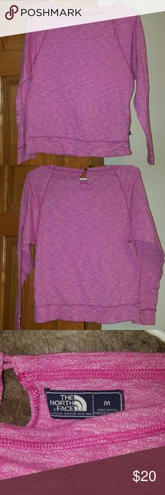 North Face Pink lightweight sweatshirt EUC, worn 1x. Style A66L Heather Pink size medium crew neck very lightweight sweatshirt.  Perfect for summer nights, spring or your workouts. North Face Tops Sweatshirts & Hoodies