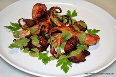 La cuina de sempre: Pops i rovellons amb salsa d'espinacs