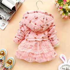 12m,24m,2y,3y,4y baby clothes baby girl clothes winter coat kid pink warm coat on Etsy, $30.99