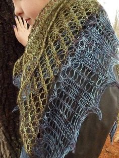 Pine Barrens shawl kit Come as ewe are by AtKnitsEndYarns on Etsy, $25.00