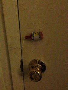 i see this in my near future; nobody warn Hunter! :: funny pranks.. would be awesome for a kid sneaking in past curfew
