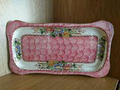 Maling pink Peony Rose dressing table tray Dressing Table Tray, English Pottery, Peony Rose, Pink Peonies, Ebay, Beautiful, Vintage, Vintage Comics
