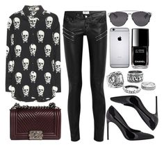 """""""Style #9270"""" by vany-alvarado ❤ liked on Polyvore featuring Yves Saint Laurent, Chanel and Christian Dior"""