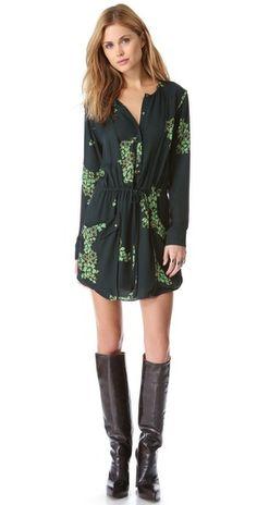 green/black floral