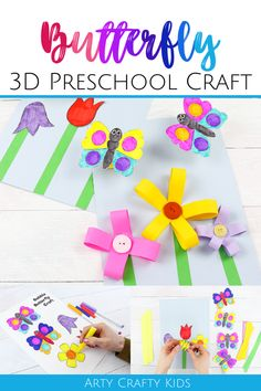 Animal Crafts For Kids, Spring Crafts For Kids, Paper Crafts For Kids, Summer Activities For Kids, Crafts For Kids To Make, Kids Diy, Easy Preschool Crafts, Toddler Crafts, Craft Activities