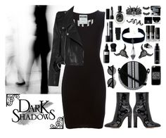 """Dark soul"" by nvoyce ❤ liked on Polyvore featuring Moschino, Vetements, Paco Rabanne, Gianvito Rossi, VSA, BERRICLE, Casetify, Gucci, Christian Dior and David Mallett"