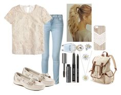 """""""Daisy picture day"""" by phumphf14 ❤ liked on Polyvore featuring Frame Denim, J.Crew, Sperry Top-Sider, Bobbi Brown Cosmetics, Marc Jacobs, Bling Jewelry, Daisy Jewellery and Candie's"""