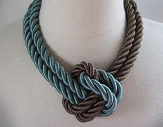 Make this stylish rope necklace out of twisted cord—the color combinations are endless!
