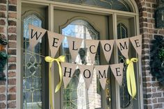 Week 9 Welcome Home Banner (make along with baby& sign for homecoming) Welcome Home Crafts, Welcome Home Decorations, Welcome Home Banners, Welcome Home Parties, Welcome Home Signs, Military Welcome Home, Welcome Home Soldier, Welcome Home Daddy, Missionary Homecoming