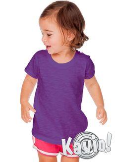 c3694e8a7ccb03 Baby's basic everyday tee is Kavio!'s raw edge crew neck short sleeve tee