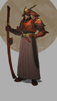 Science fiction suit for a samurai. Designed for the Character Design Challenge group. Game Character Design, Character Concept, Character Art, Samurai Concept, Armor Concept, Ronin Samurai, Samurai Art, Examples Of Concepts, Techno