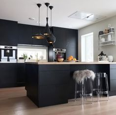Love this beautiful kitchen! String Pocket shelf available at www.istome.co.uk