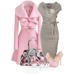 grey and pink, sweet....