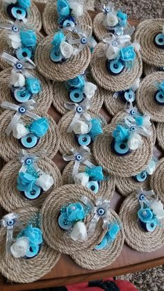 My circumcision gift magnets.- My circumcision gift magnets. Handmade Wedding Favours, Rustic Wedding Favors, Wedding Favor Bags, Handmade Soaps, Jute Crafts, Craft Stick Crafts, Felt Crafts, Diy And Crafts, Wedding Centerpieces Mason Jars