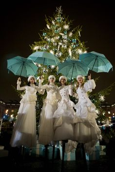 Snow: Two or four Russian princess come with baskets of snow to add a touch of something white to your event. Perfectly themed for white events, a perfect added touch for the Christmas season. Can be performed at the same event with the snow silks act.