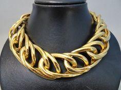 550d76d229a Online veilinghuis Catawiki: Givenchy - XXL Gouden ketting met dubbele  schakel - jaren 80 -