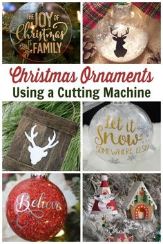 Cricut Christmas Ornament Project Ideas - Use these SVG files to create Christmas ornaments for the holiday season. From funny to farmhouse, these ornaments are sure to please. Informations About Cricut Christmas O Cricut Christmas Ideas, Family Christmas Ornaments, Christmas Svg, Outdoor Christmas Decorations, Homemade Christmas, Christmas Projects, Holiday Crafts, Holiday Fun, Christmas Countdown