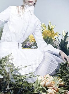 """The whites of spring"". Photographed by Craig McDean for W March 2013"