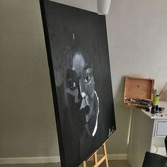 Acrylic on canvas White Art, Black And White, Easy Paintings, Sketches, Canvas, Art Journaling, Simple, Drawings, Tela