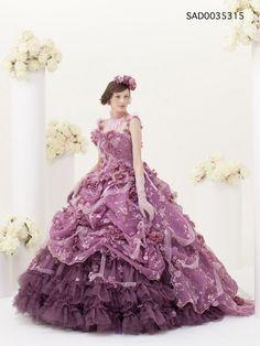 Stella  libero elegant wedding dress lilac purple flower rose