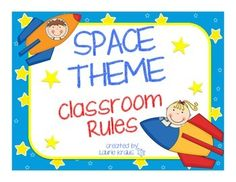 These posters will enhance your space themed classroom by defining rules that the students should follow to have a successful year.  This product includes:1 Out of this World Classroom Rules poster7 Classroom rules each on an individual poster1 Rules Poster without any words so you can create your own rules1 Certificate for positive behavior**These posters are part of my Space Theme product.