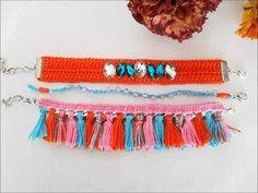 Colecção Gipsy by Maparim Friendship Bracelets, Gypsy Crochet, Crochet Fashion, Orange, Tv, Jewelry, Jewellery Making, Jewerly, Jewelery