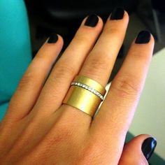 Gold stacking ring from @Madewell
