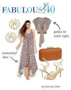 I'm trying to decide what to pack for my cruise and I found this amazing website for women over 40 (like me).  fabafter40 - summer vacation - evening