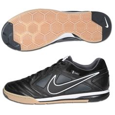b0b107fb102 Nike5 Gato Leather Indoor Soccer Shoes (Black White Dark Shadow)