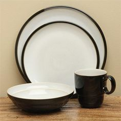 Denby Everyday Black Pepper 16 piece Dinnerware Set & Denby Jet Black Dinnerware Collection - for cereal bowl?   Dining ...